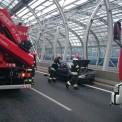 Wypadek na Trasie Toruńskiej z 22 września. Fot. Straż Pożarna