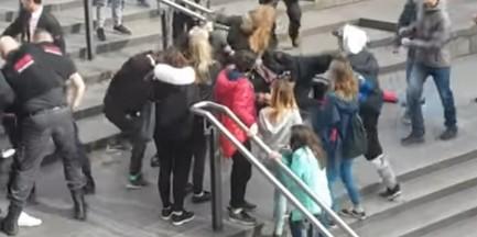 Brutalna bójka młodzieży z ochroną sklepu. Zatrzymano 5 osób