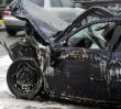 """Trasa Siekierkowska zablokowana po wypadku. """"Z samochodu wypadła butla z acetylenem"""""""