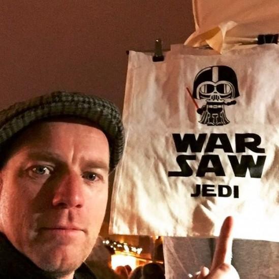 Ewan McGregor podczas pobytu w Warszawie. Fot. Ewan McGregor/Instargam