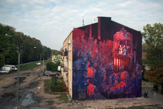 Mural przy ul. Rogowskiej. Fot. Maciej Kruger/http://sepeusz.blogspot.com/