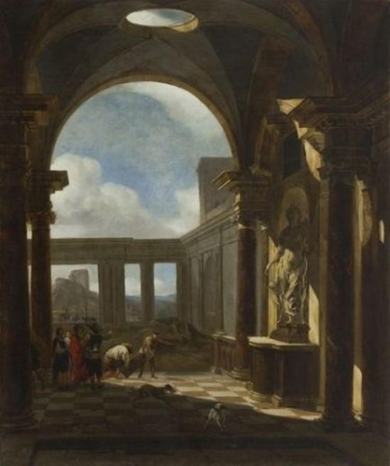 """Jan Baptist Weenix - Fantazja Architektoniczna. Źródło"""" mat. prasowe"""
