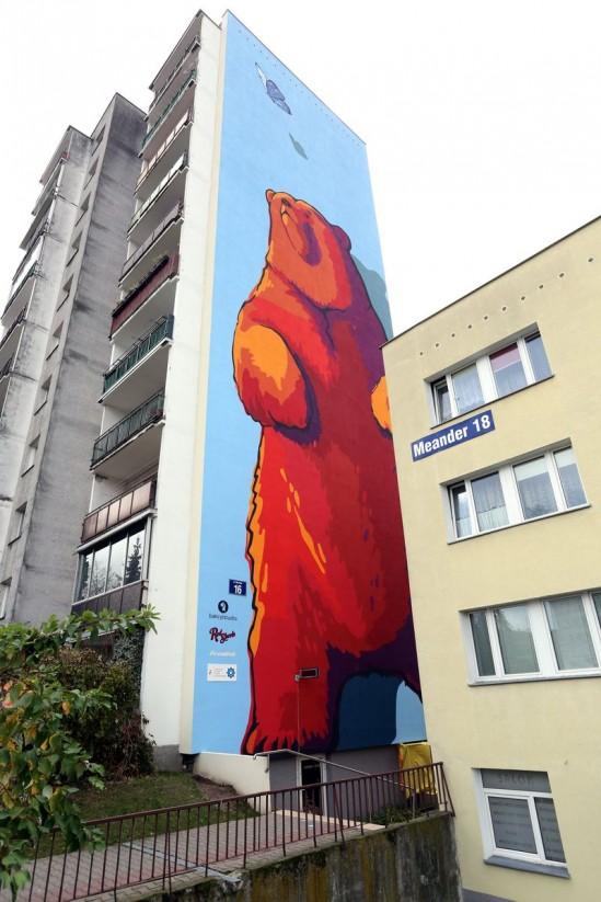 galeria ursyn w ma nowy mural nied wiedzia wpatruj cego