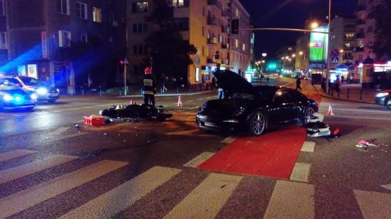 W wyniku wypadku jedna osoba została ranna Fot. WawaLove.pl