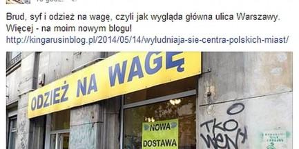 """Kinga Rusin o centrum Warszawy: """"Brud, syf i odzież na wagę!"""""""