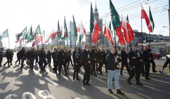 Marsz ONR. Fot. PAP/Radek Pieruszka