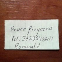 Pan Romuald szuka pracy!