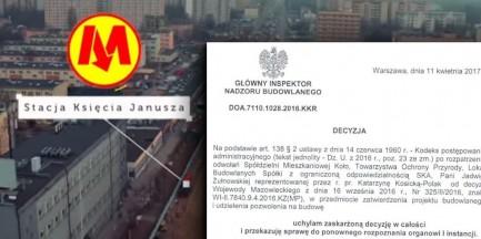 Wojewoda mazowiecki wydał decyzję ws. budowy metra