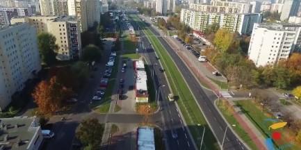 Mieszkańcy Gocławia stworzyli film z trasy przyszłego tramwaju [WIDEO]