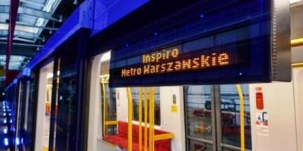 Pożar w pociągu warszawskiego metra