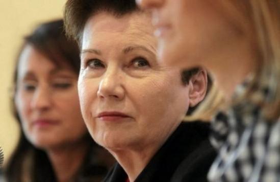 Prezydent Warszawy Hanna Gronkiewicz-Waltz zabrała głos Fot. Przemek Wierzchowski / Agencja Gazeta