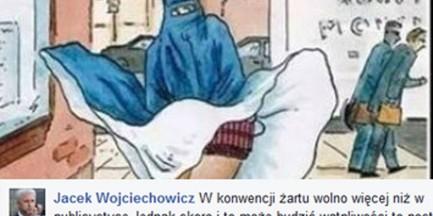 """Wiceprezydent Warszawy opublikował antymuzułmański rysunek. """"W konwencji żartu wolno więcej"""""""