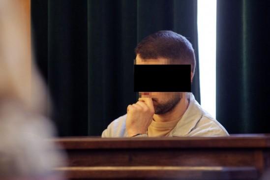 Wojciech S. podczas rozprawy o podwójne zabójstwo . Fot. Przemek Wierzchowski/Agencja Gazeta