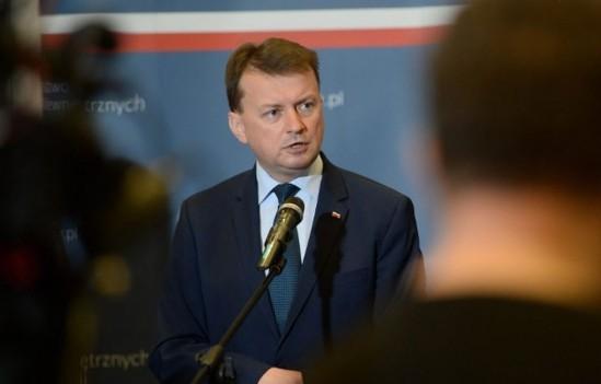 Szef MSWiA Mariusz Błaszczak. Fot. PAP