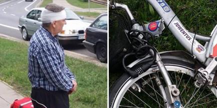 Miejski rower pękł podczas jazdy. Mężczyzna ranny