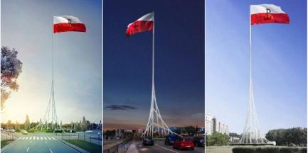 Maszt Wolności stanie na rondzie Radosława