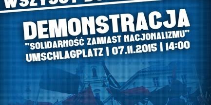 """7 listopada odbędzie się demonstracja """"Solidarność zamiast nacjonalizmu"""""""