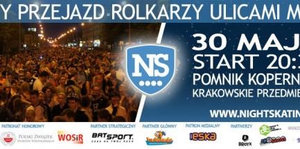 Za darmo: Kolejna edycja Nightskating Warszawa