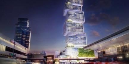 Dwustumetrowy wieżowiec stanie przy Dworcu Centralnym