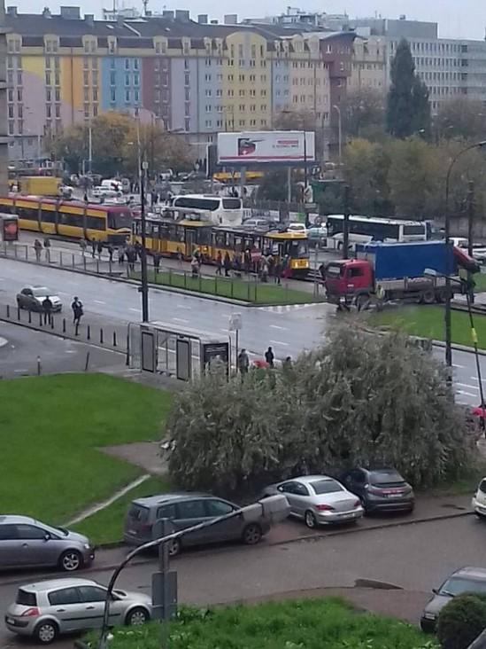 Tramwaje zostały skierowane na objazdy. Fot. Janek Domański