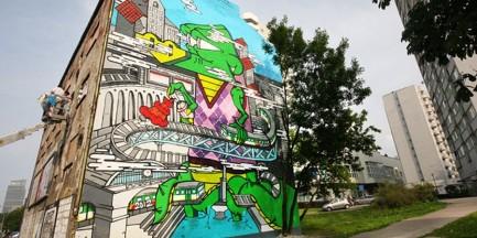 Nowy mural przy Wolskiej!