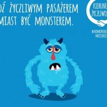 """Nowa kampania """"Bądź życzliwym pasażerem zamiast być monsterem"""""""