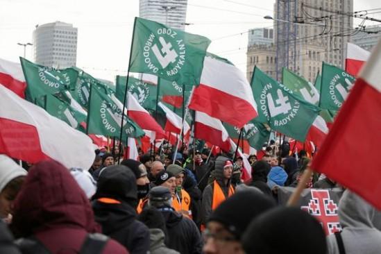 Marsz Niepodległości w Warszawie. Fot. Adam Stępień/Agencja Gazeta