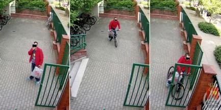 Ukradł rower. Nagrały go kamery monitoringu
