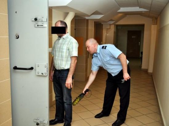 Zatrzymany mężczyzna. Fot. policja.waw.pl