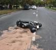 Motocyklista zabił pieszego!
