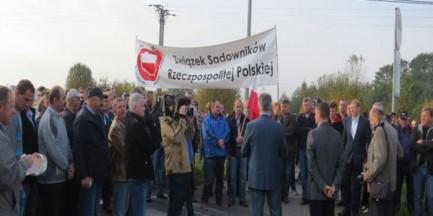 Dziś protesty sadowników. Możliwe utrudnienia w komunikacji