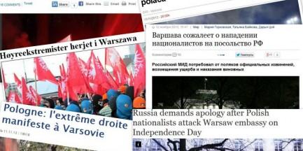 Zamieszki 11 listopada w zagranicznej prasie
