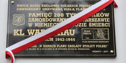 W niemieckim obozie koncentracyjnym KL Warschau zabito 200 tys. Polaków. To tablica upamiętniająca ofiary