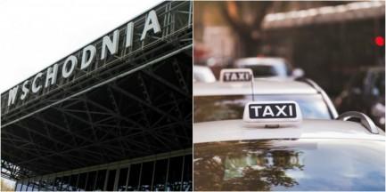Nocny incydent przed dworcem Warszawa Wschodnia. Kierowca Ubera potrącił taksówkarza?